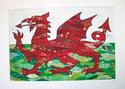 Welsh dragon print