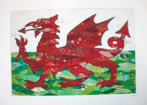 Image of Welsh dragon print