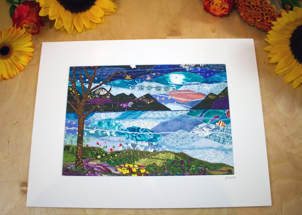 Image of Evening view of the mountains Print