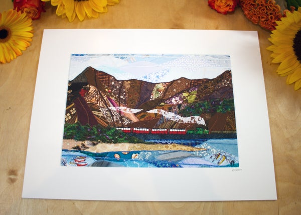 Image of A Train on the Cob, Porthmadog print