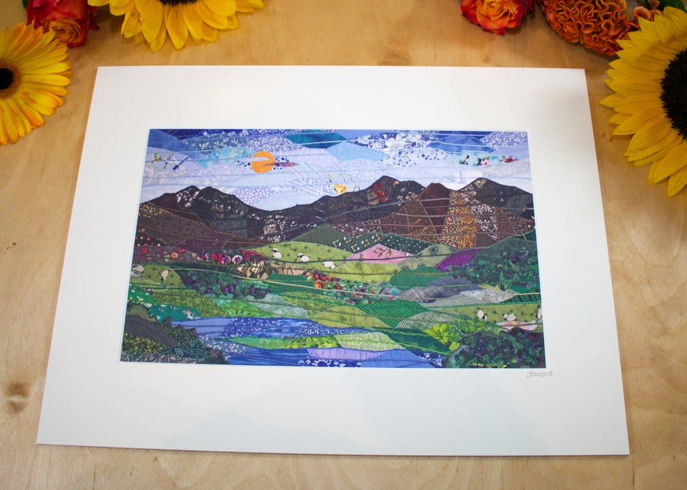 Image of Snowdon from Capel Curig Print