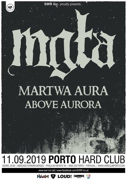 Image of 11.09.2019 - MGŁA + MARTWA AURA + ABOVE AURORA