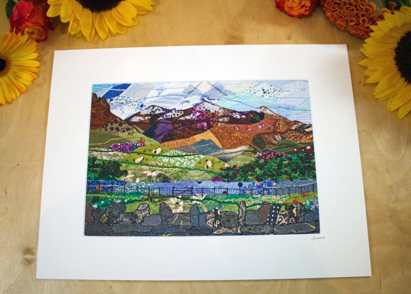 Image of Snowdon from Nantlle Lake Print