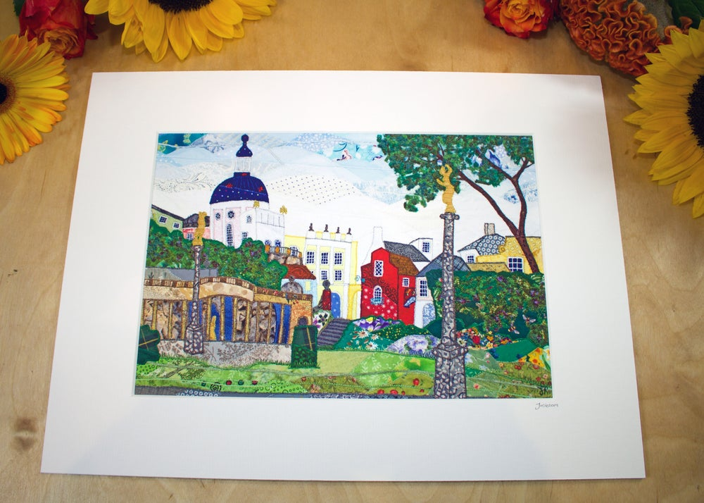Image of Portmeirion, A view from the Bandstand Print