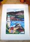 A view from Portmeirion Print