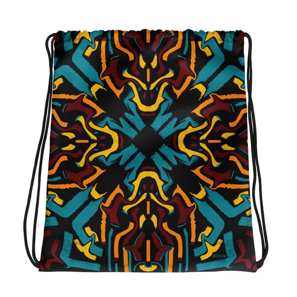 Image of Drawstring bag with psychedelic design