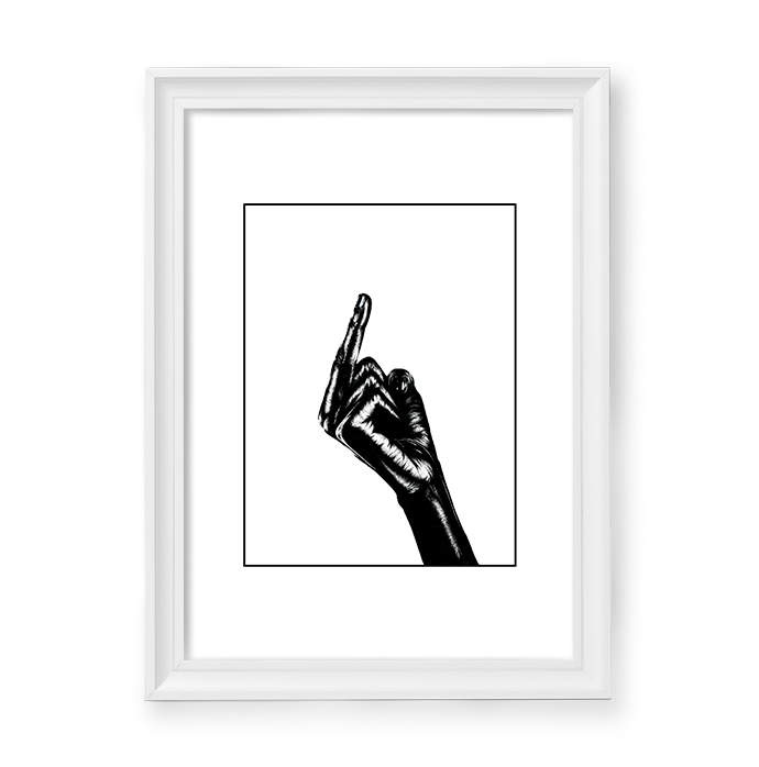 Image of Fuck everybody! Hand #2