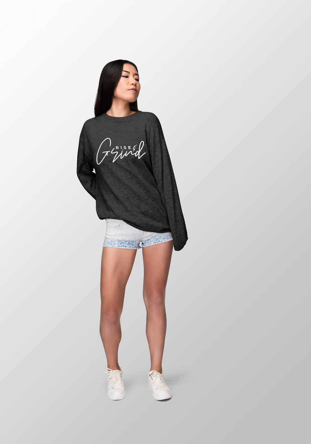 "Image of ""Rise N Grind"" Women's Black Long Sleeves"