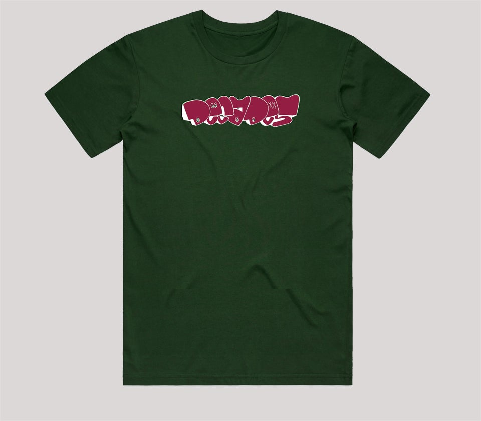 Image of Throwie tee green
