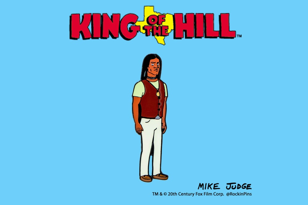 Image of King of the Hill - John Redcorn Enamel Pin
