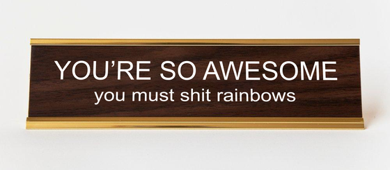 Image of YOU'RE SO AWESOME nameplate