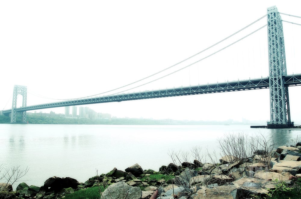 "Image of The GW Bridge - Size: 20"" x 30""  Material: Mounted Art Print"