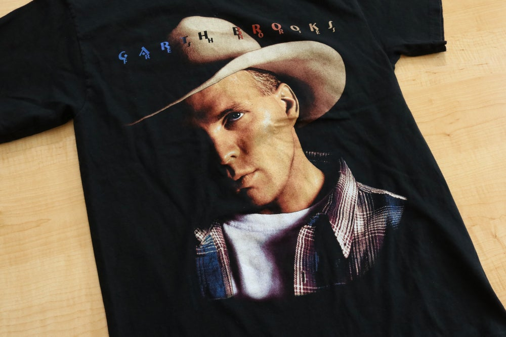 Image of Vintage 1990's Garth Brooks Country Music Concert Tour T-Shirt Sz.M