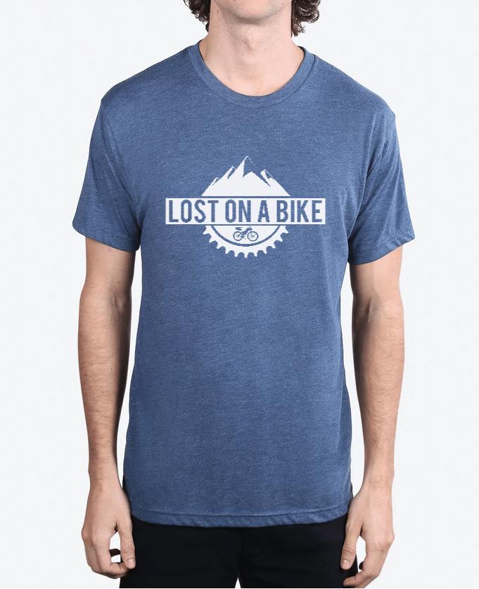 Image of Lost on a Bike Men's Logo T