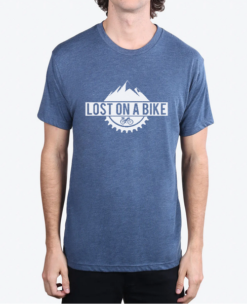 Image of Lost on a Bike Men's Logo T