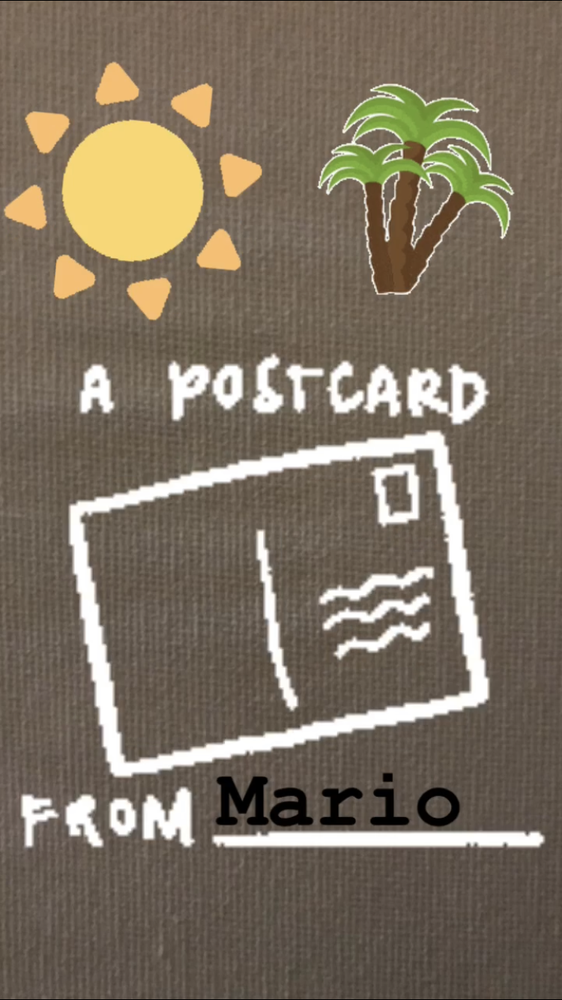 Image of Postcard from Mario!