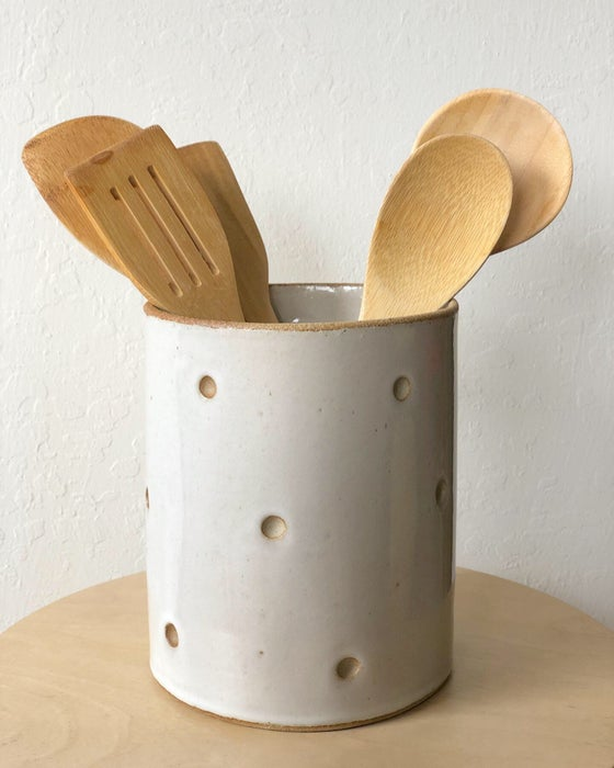 Image of Dotted Utensil Holder