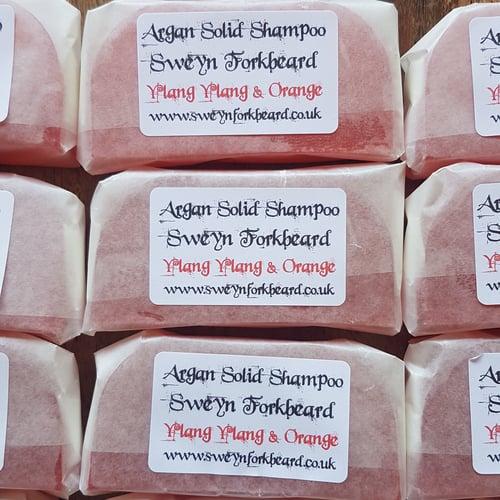 Image of Ylang Ylang & Orange Solid Shampoo with Argan Oil 100% Organic