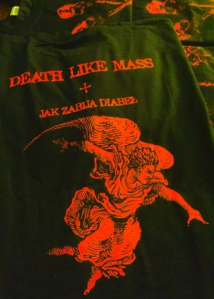 Image of DEATH LIKE MASS - 'Jak Zabija Diabel' men's t-shirt