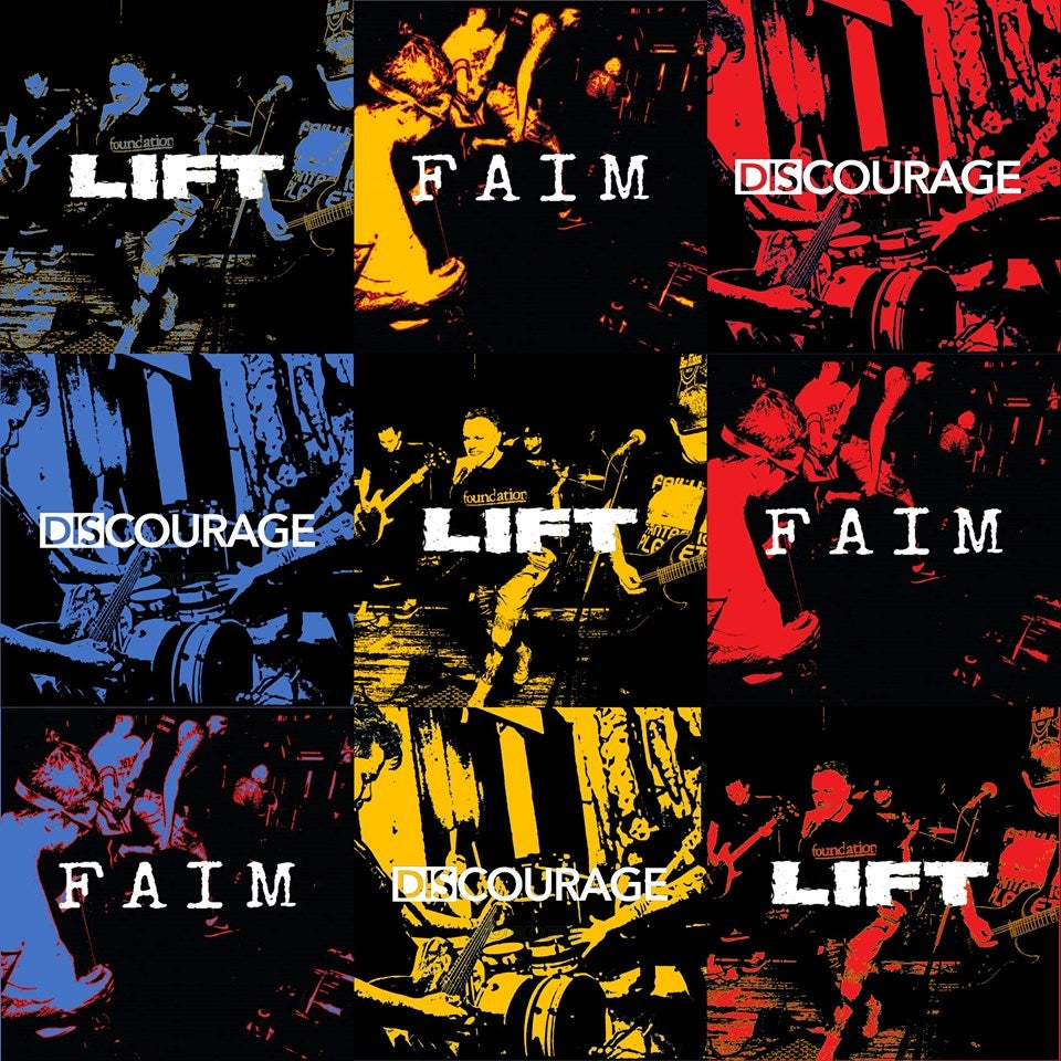 Image of LIFT FAIM DISCOURAGE 3 WAY SPLIT RECORD pre order Shipping now