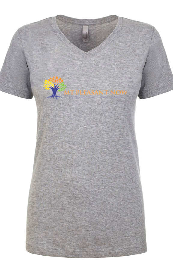 Image of Grey Classic Mt. Pleasant V-Neck Womens