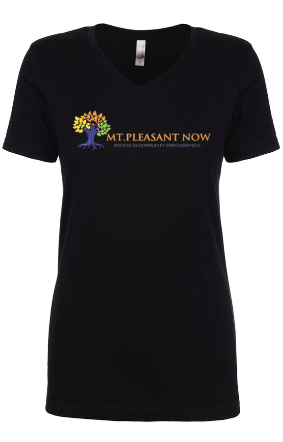 Image of Black Classic Mt Pleasant V-Neck Womens
