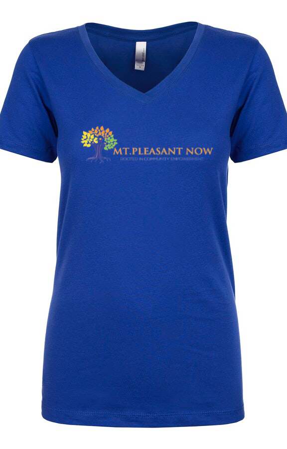 Image of Royal Blue Classic Mt. Pleasant V-Neck Womens