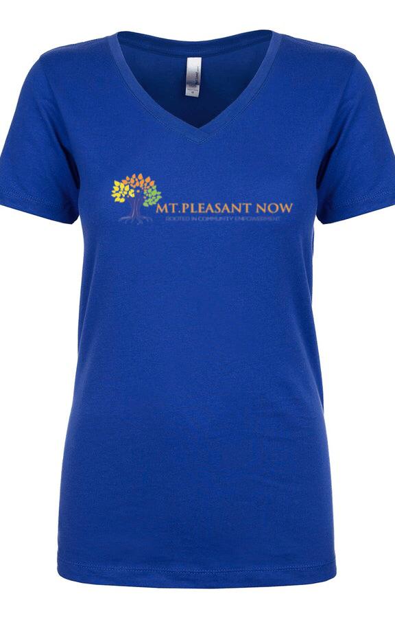 Image of Royal Blue Classic Mt. Pleasant V-Neck Womens