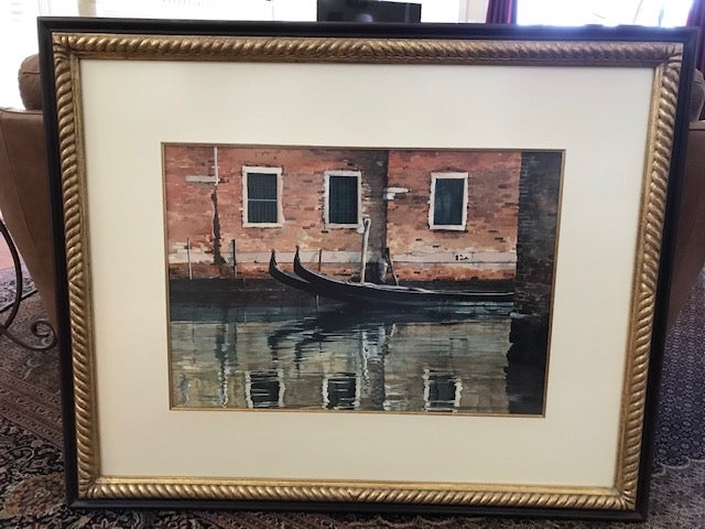 """Image of """"Reflections"""" framed original watercolor"""