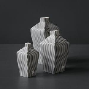 Image of Tapered Stripe Vessel #1 by Justine Allison.