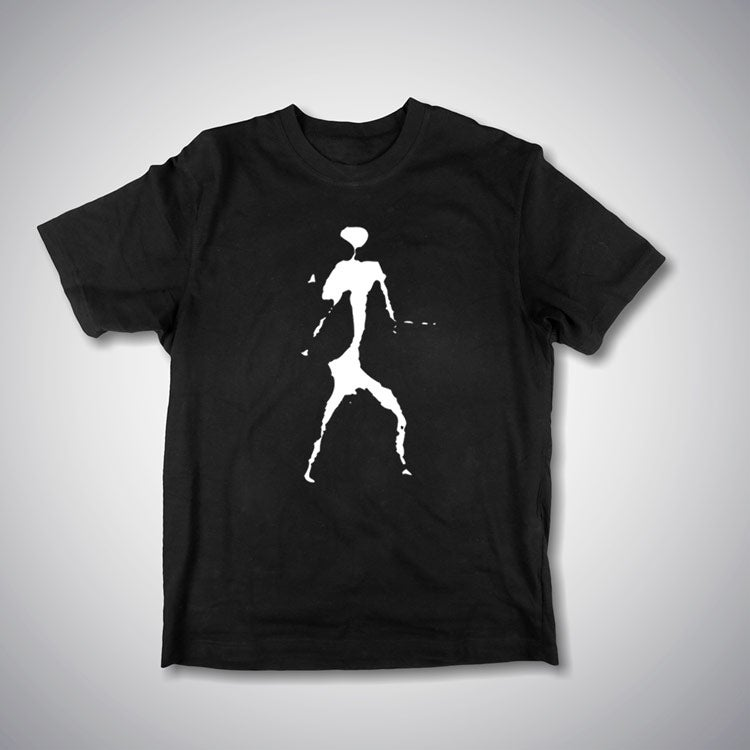 Image of Mackenzie Man - white on a black tshirt