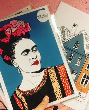 Image of Frida Kahlo print A4