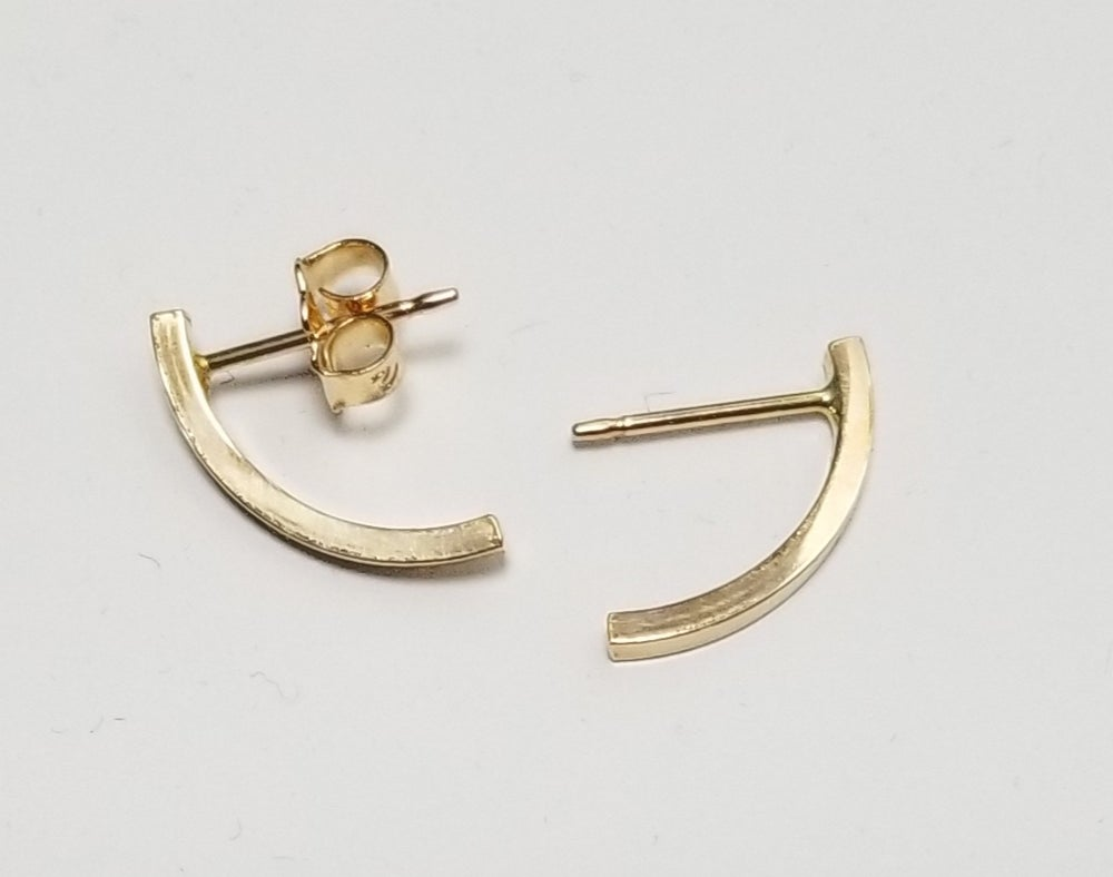Image of small arc earrings