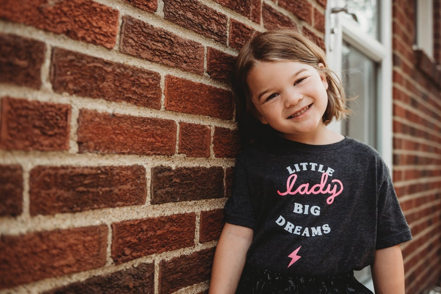 Image of Little Lady, Big Dreams Baby Bodysuit/Toddler Tee