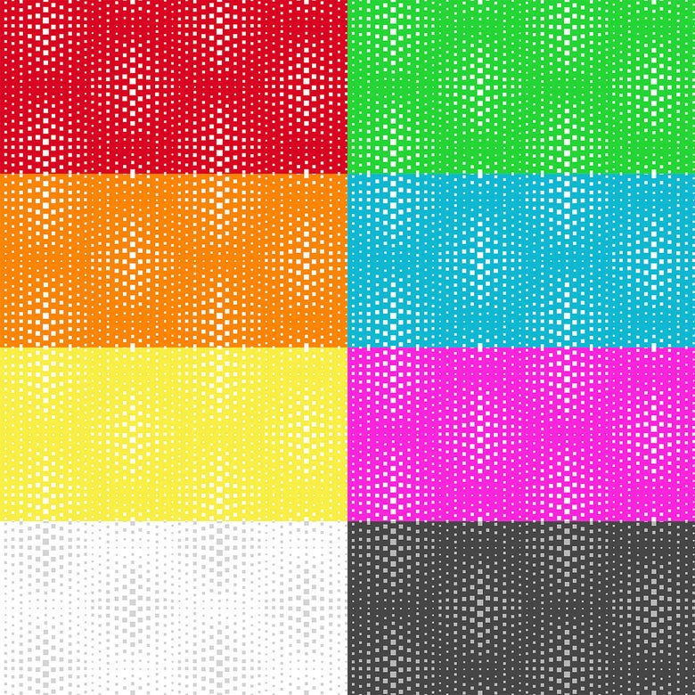 Image of Geo Pop Op Squares By the Yard - Select Color