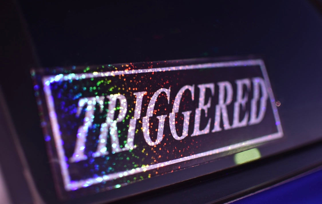 Image of triggered slap