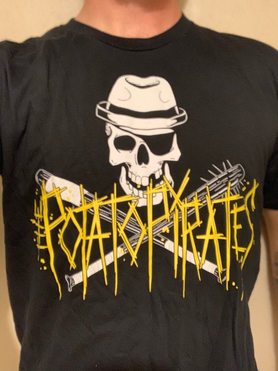Image of New Yellow Skull and Bats Logo T
