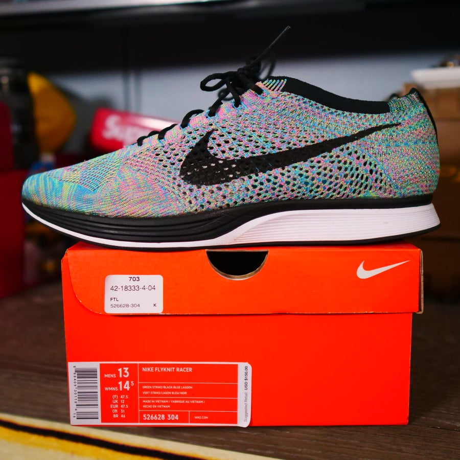 Image of Multicolor Flyknit Racer