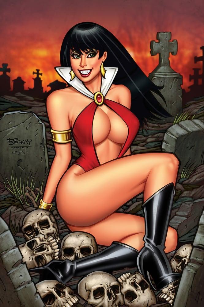 Image of Vampirella #1 Comics Elite Virgin Variant Cover.