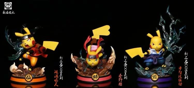 Image of [IN-STOCK]Naruto Surge Studio Pikachu Cross New Sannin Naruto,Sasuke,Sakura Set Resin Statue