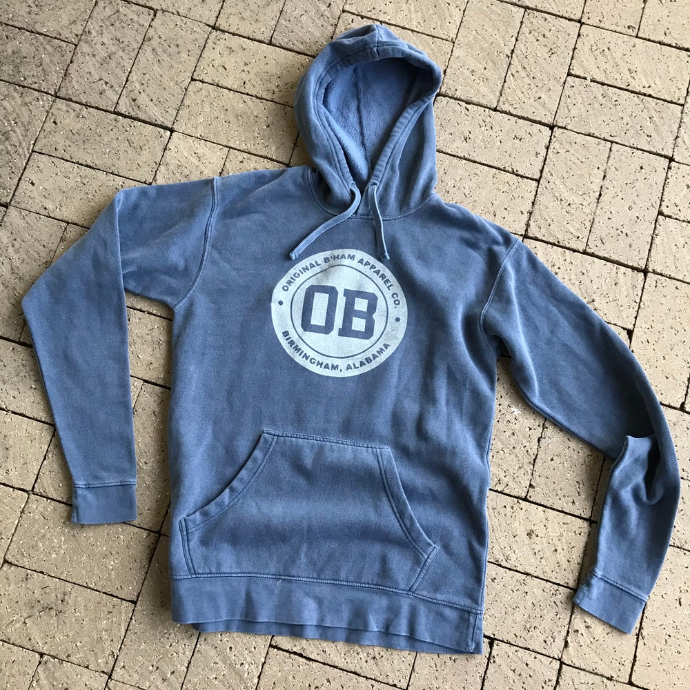 "Image of Original B'ham ""OB"" Fleece Hoodie - Indigo"