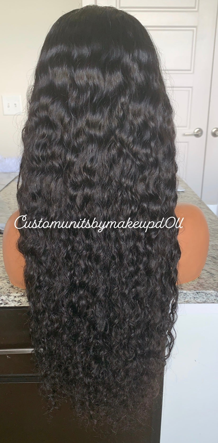 """Image of Indian Wavy/Curly 26"""" Lace Closure Wig!"""