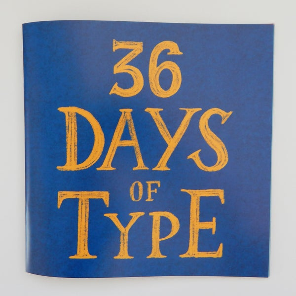 Image of 36 Days of Type Booklet