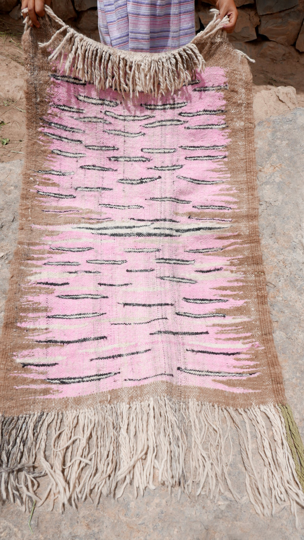 Image of Moroccan Wool Rug -  Pink