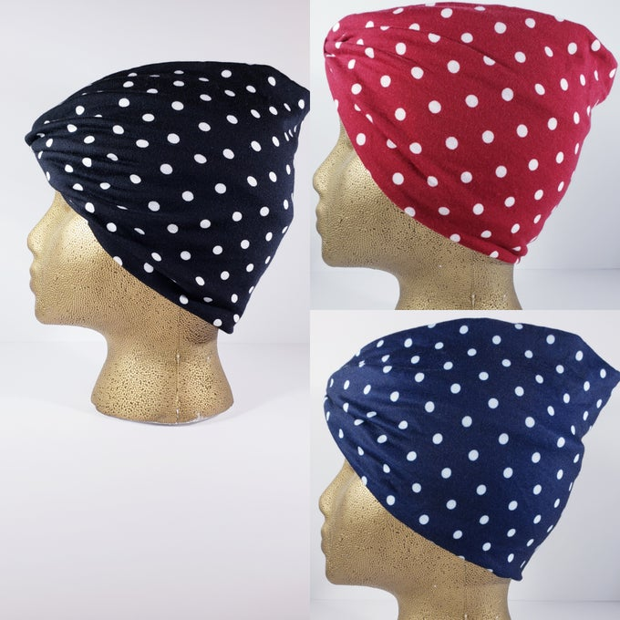 Image of Polk-A-Dot Hair Wrap