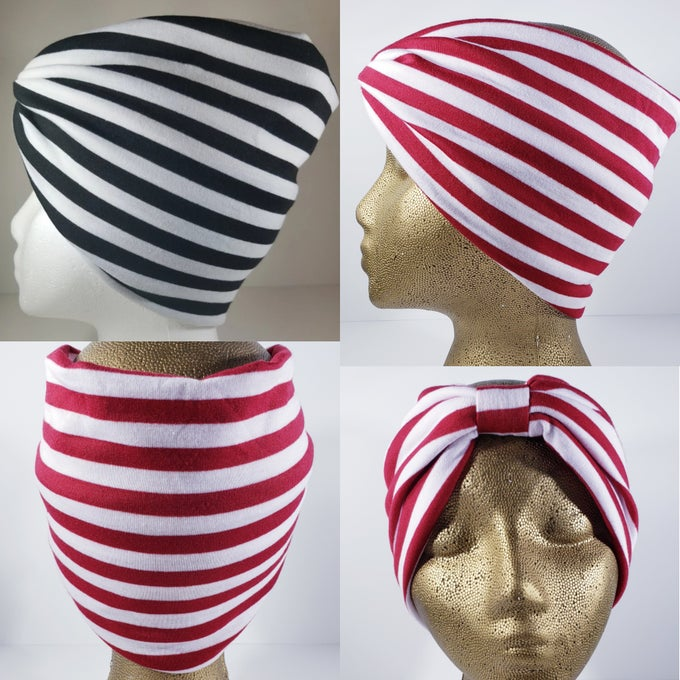 Image of Striped Hair Wrap