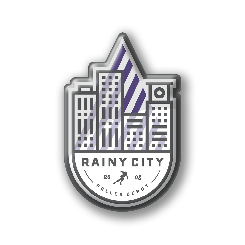 Image of Rainy City Enamel Badge
