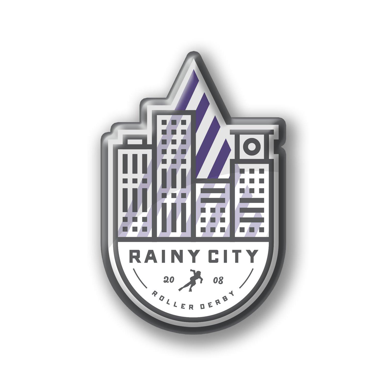 Image of Rainy City Enamel Badge