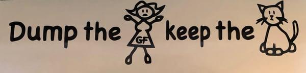 Image of Dump the Girlfriend Keep the Cat Vinyl Sticker
