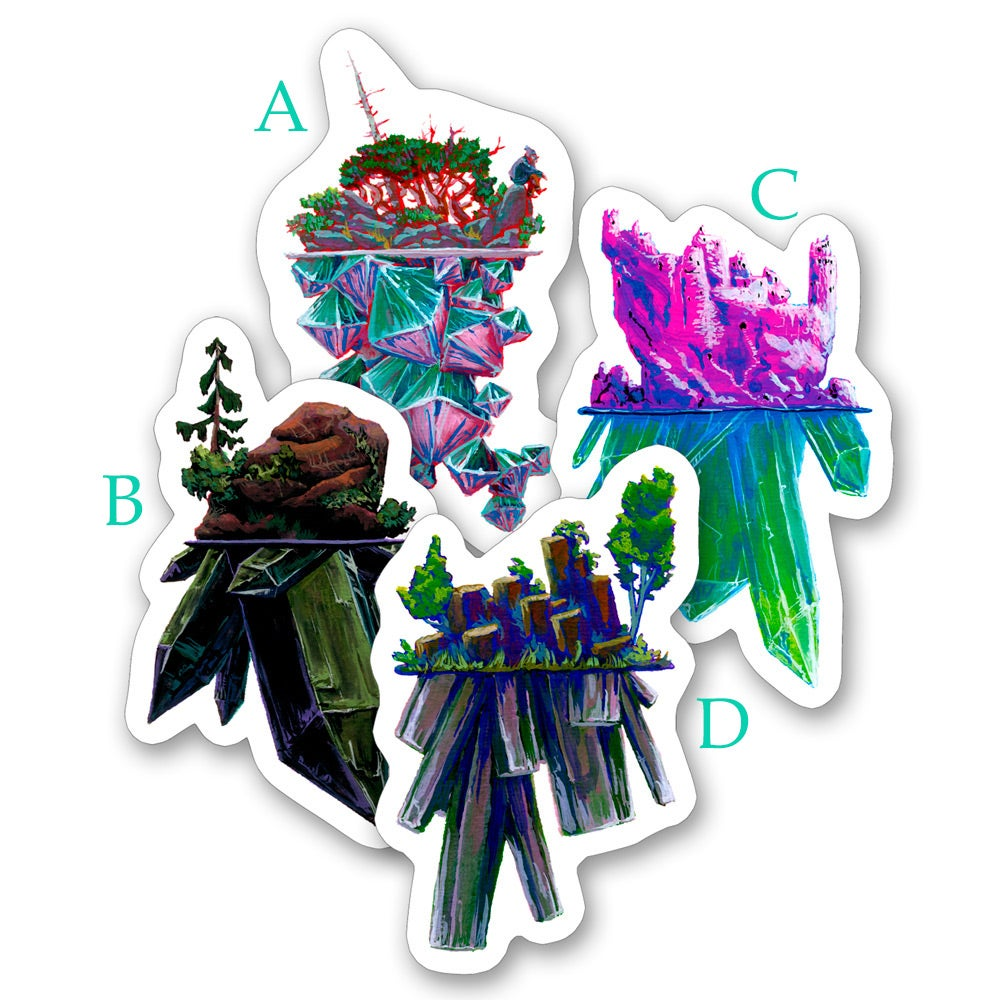 Image of Silhouette Crystal Islands - Sticker Set